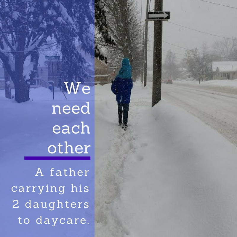 quote-photo winter carrying kids
